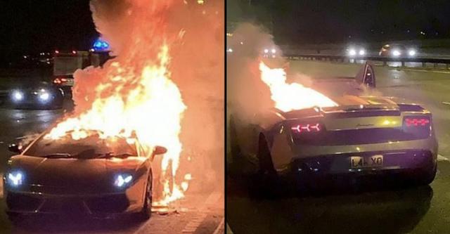 """Siêu xe Lamborghini mạ vàng bốc cháy sau khi đi bảo dưỡng khiến chủ nhân """"đứt ruột"""" - Ảnh 1"""