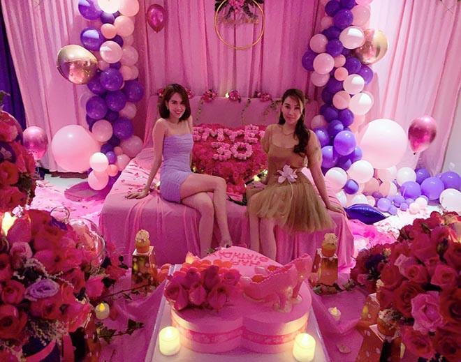 Ngọc Trinh khoe được bạn trai đại gia tổ chức sinh nhật ngập tràn màu hồng đón tuổi 30 - Ảnh 3