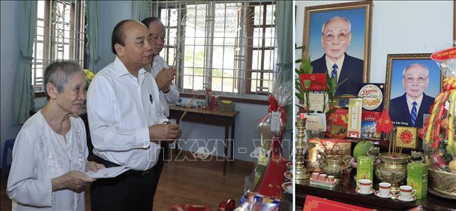Thủ tướng Nguyễn Xuân Phúc dâng hương, tưởng nhớ các đồng chí nguyên lãnh đạo Đảng, Nhà nước - Ảnh 4
