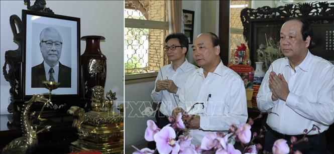 Thủ tướng Nguyễn Xuân Phúc dâng hương, tưởng nhớ các đồng chí nguyên lãnh đạo Đảng, Nhà nước - Ảnh 6