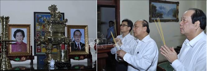 Thủ tướng Nguyễn Xuân Phúc dâng hương, tưởng nhớ các đồng chí nguyên lãnh đạo Đảng, Nhà nước - Ảnh 7