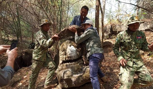 Phát hiện tượng quái vật biển cổ xưa 1.500 năm tuổi ở Campuchia - Ảnh 1