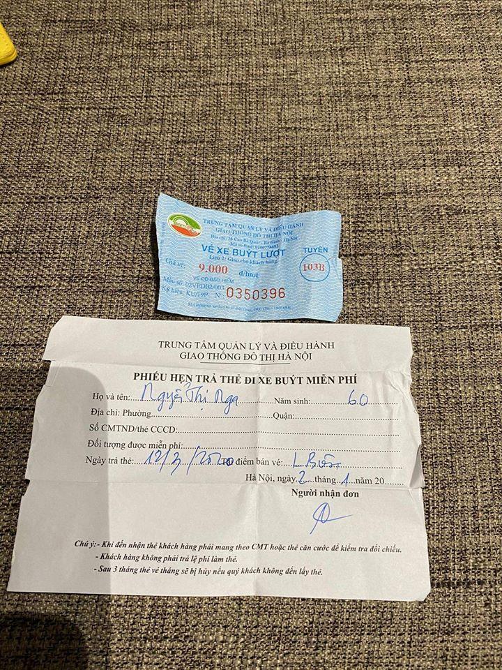 Hà Nội: Có giấy đi xe bus miễn phí, hành khách 60 tuổi vẫn bị ép mua vé - Ảnh 1