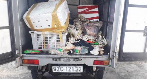 Quảng Nam: Dân tổ chức vây bắt xe tải chở thịt thối đổ xuống chân cầu - Ảnh 1