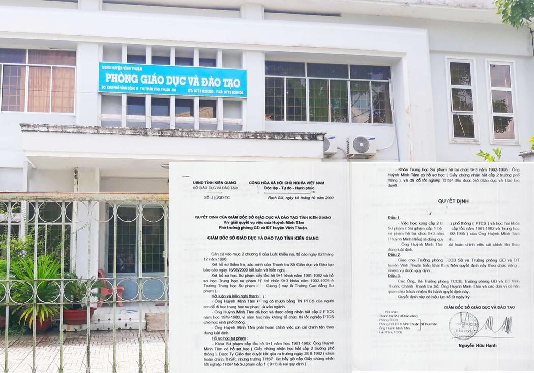 Trưởng phòng giáo dục ở Kiên Giang thừa nhận dùng bằng cấp mang tên em trai  - Ảnh 1