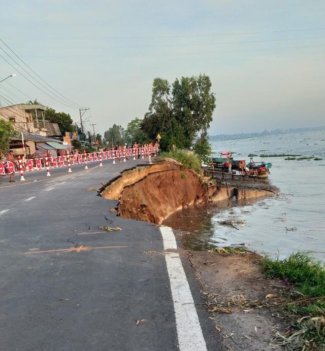 An Giang công bố tình trạng sạt lở nghiêm trọng Quốc lộ 91 - Ảnh 1