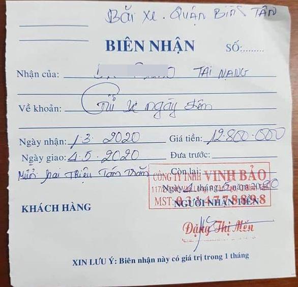 Vụ mất gần 13 triệu đồng tiền gửi xe bị tạm giữ: Lộ diện chủ bãi xe - Ảnh 2
