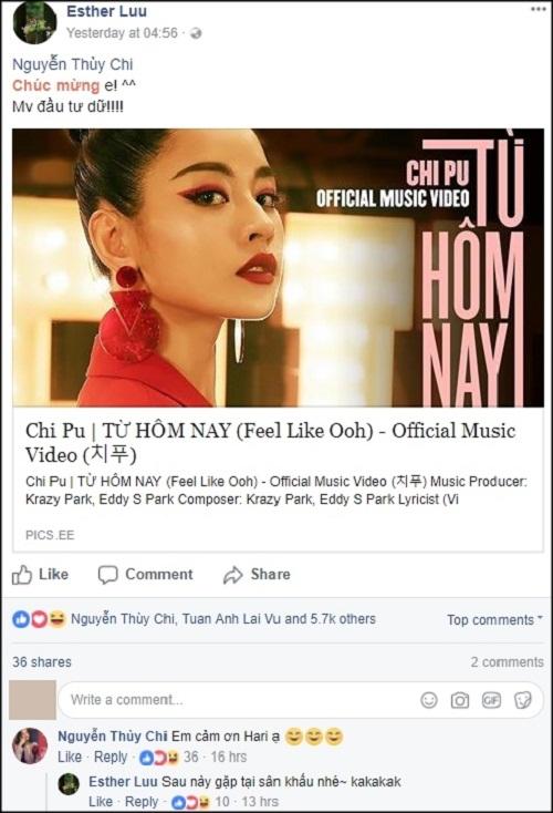 """Loạt sao Việt treo status khi Chi Pu """"chào sân"""" MV đầu tay trong vai trò ca sĩ - Ảnh 5"""