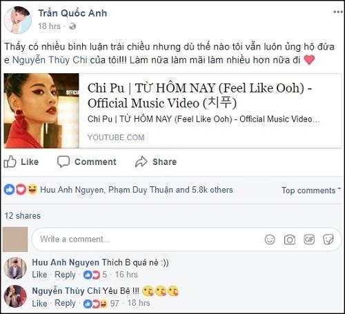 """Loạt sao Việt treo status khi Chi Pu """"chào sân"""" MV đầu tay trong vai trò ca sĩ - Ảnh 3"""