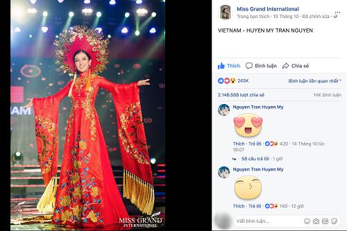 """Chuyện hy hữu: BTC """"Miss Grand International"""" công bố nhầm Top 1 bình chọn Trang phục dân tộc giữa Việt Nam và Indonesia - Ảnh 3"""