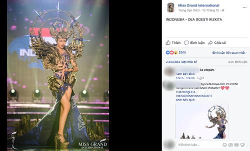 """Chuyện hy hữu: BTC """"Miss Grand International"""" công bố nhầm Top 1 bình chọn Trang phục dân tộc giữa Việt Nam và Indonesia - Ảnh 4"""