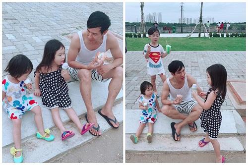 Phát cuồng với hình ảnh đáng yêu, ngộ nghĩnh của 4 nhóc tỳ Lý Hải - Minh Hà - Ảnh 5