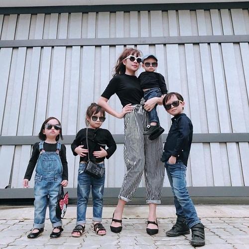 Phát cuồng với hình ảnh đáng yêu, ngộ nghĩnh của 4 nhóc tỳ Lý Hải - Minh Hà - Ảnh 1