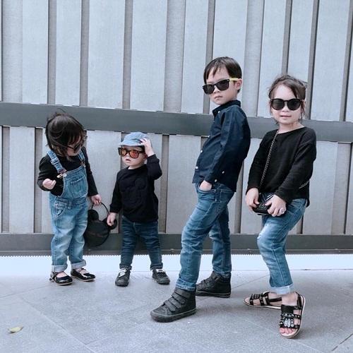 Phát cuồng với hình ảnh đáng yêu, ngộ nghĩnh của 4 nhóc tỳ Lý Hải - Minh Hà - Ảnh 3