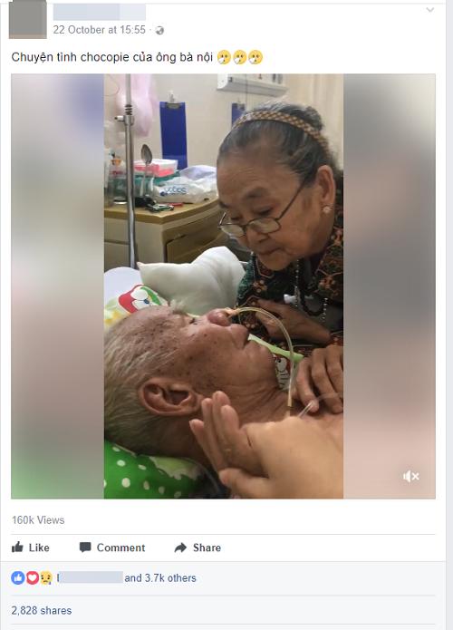 Xúc động hình ảnh cụ bà hôn lên trán vỗ về chồng trên giường bệnh, cụ ông choàng tay ôm vợ lưu luyến - Ảnh 1