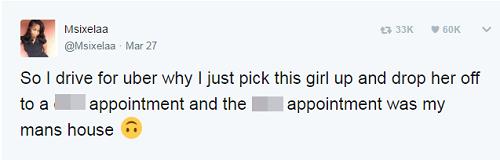 """""""Trớ trêu"""" nữ tài xế Uber lái xe chở tình nhân của bạn trai tới nhà... bạn trai - Ảnh 2"""