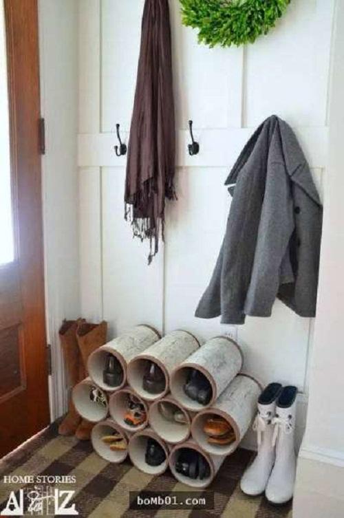 Bực mình vì tủ giày bừa bộn, anh chồng mua ống nhựa về giải quyết khiến vợ bất ngờ - Ảnh 2