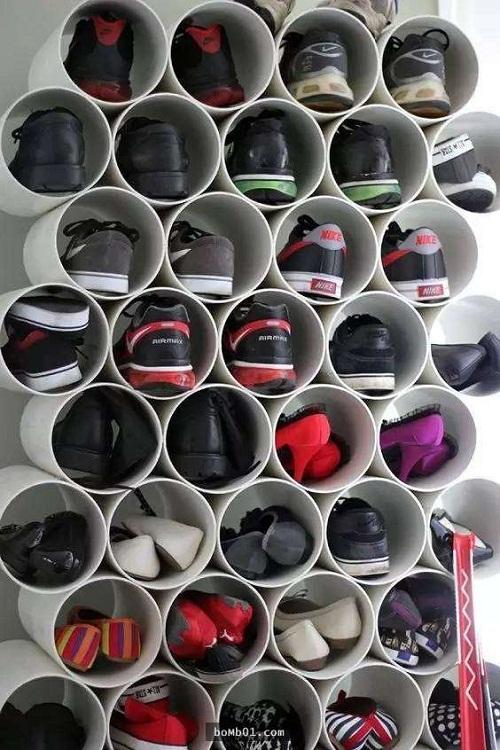 Bực mình vì tủ giày bừa bộn, anh chồng mua ống nhựa về giải quyết khiến vợ bất ngờ - Ảnh 3