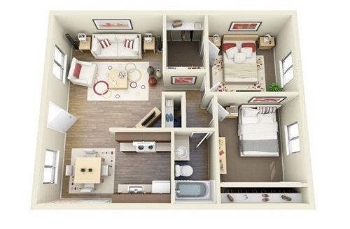 Những mẫu nhà 2 phòng ngủ khiến người xem mê mẩn muốn sở hữu ngay - Ảnh 11