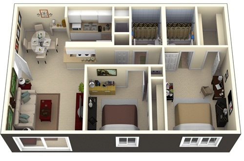 Những mẫu nhà 2 phòng ngủ khiến người xem mê mẩn muốn sở hữu ngay - Ảnh 6