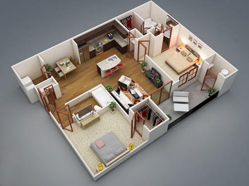 Những mẫu nhà 2 phòng ngủ khiến người xem mê mẩn muốn sở hữu ngay - Ảnh 2