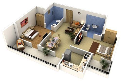 Những mẫu nhà 2 phòng ngủ khiến người xem mê mẩn muốn sở hữu ngay - Ảnh 1