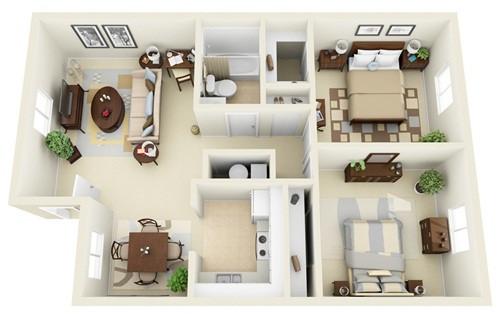 Những mẫu nhà 2 phòng ngủ khiến người xem mê mẩn muốn sở hữu ngay - Ảnh 4