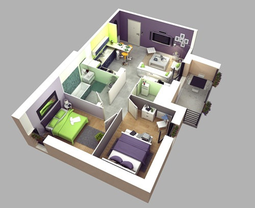 Những mẫu nhà 2 phòng ngủ khiến người xem mê mẩn muốn sở hữu ngay - Ảnh 7
