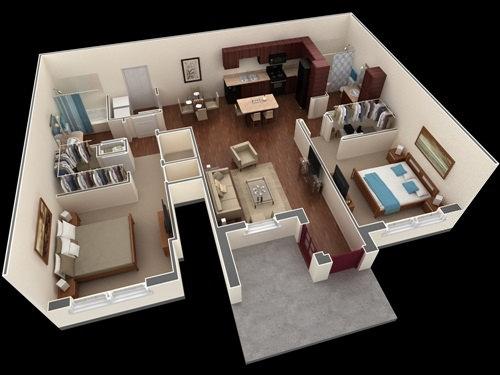 Những mẫu nhà 2 phòng ngủ khiến người xem mê mẩn muốn sở hữu ngay - Ảnh 5