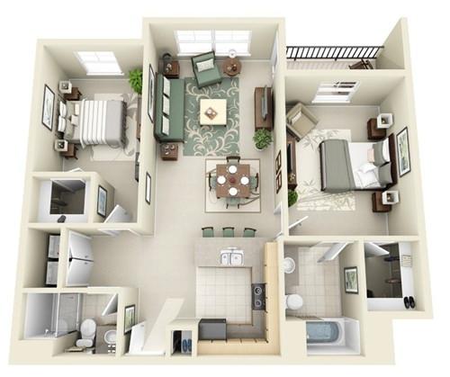 Những mẫu nhà 2 phòng ngủ khiến người xem mê mẩn muốn sở hữu ngay - Ảnh 10