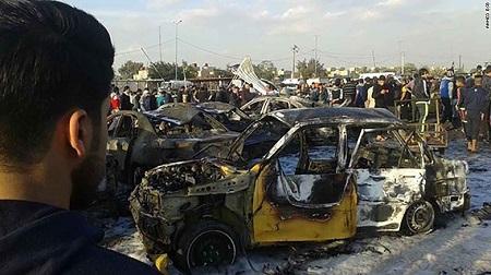 IS đánh bom xe, 51 người thiệt mạng ở Baghdad - Ảnh 1