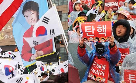 Hàn Quốc chia rẽ vì bê bối chính trị của Tổng thống Park Geun-hye - Ảnh 1
