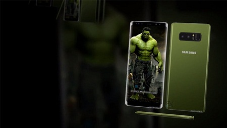 Cận cảnh Galaxy Note 8 phiên bản đặc biệt siêu anh hùng Hulk - Ảnh 3