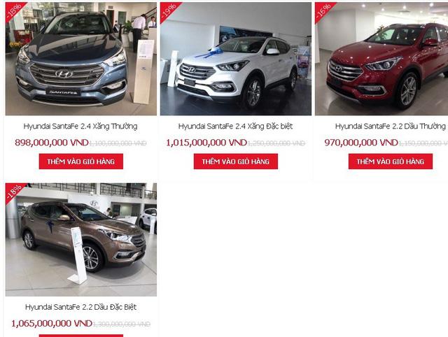 """Thị trường ô tô đón """"bão giảm giá"""", Hyundai Santa Fe  giảm tới  230 triệu đồng - Ảnh 1"""