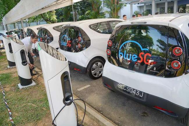 Singapore bắt đầu triển khai dịch vụ chia sẻ xe điện - Ảnh 1