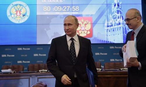 Tổng thống Nga Putin đích thân nộp hồ sơ tranh cử - Ảnh 1