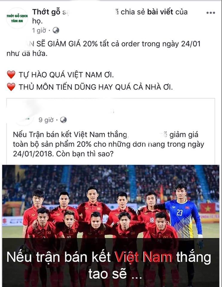 """Nhà hàng, dịch vụ đua nhau giảm giá """"ăn theo"""" chiến thắng U23 Việt Nam - Ảnh 5"""