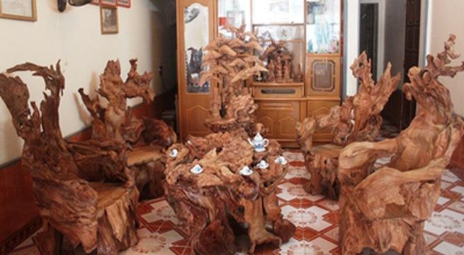 Chiêm ngưỡng bộ đồ gỗ quý hàng tỷ đồng của đại gia Việt - Ảnh 4