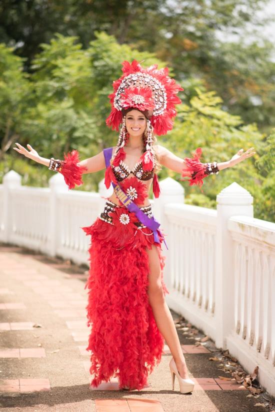 Những trang phục sắc màu của dàn người đẹp Hoa hậu Đại sứ Du lịch Thế giới 2018  - Ảnh 5