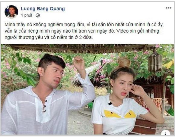 Lương Bằng Quang bất ngờ lên tiếng khi Ngân 98 lộ clip nóng - Ảnh 1