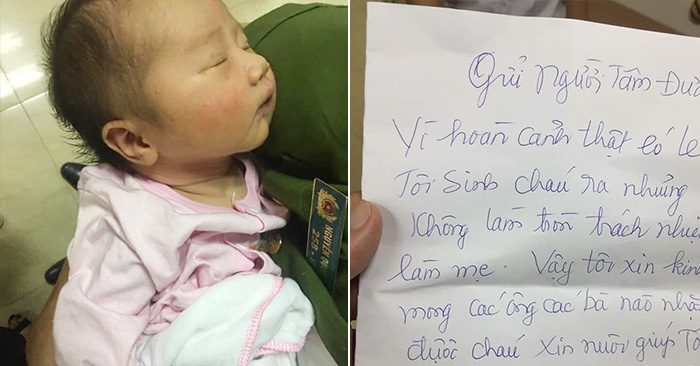 Xót xa bé gái vài ngày tuổi bị bỏ rơi cùng tâm thư của người mẹ  - Ảnh 1