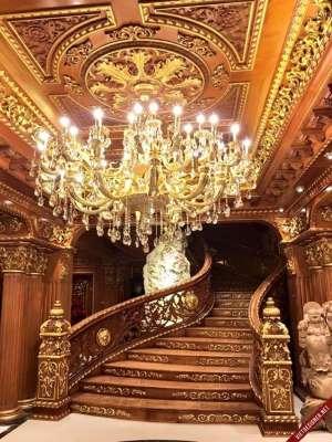 Chiêm ngưỡng tòa lâu đài dát vàng 300 tỷ của đại gia sắt vụn  - Ảnh 4