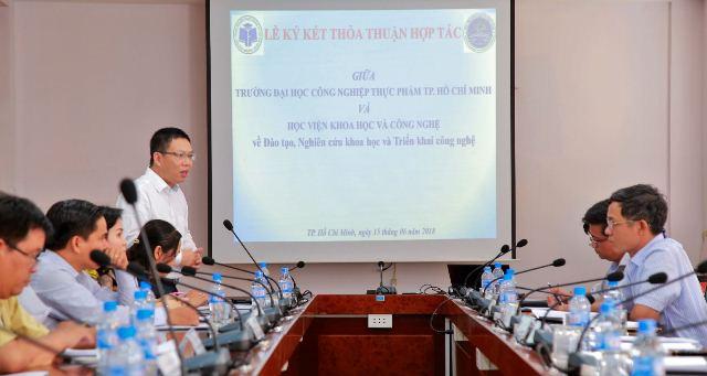 ĐH Công nghiệp Thực phẩm TP.HCM và HV Khoa học-Công nghệ ký kết thỏa thuận hợp tác - Ảnh 2