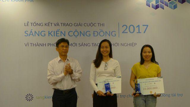 TP.HCM: Nhóm học sinh lớp 5 đạt giải nhất cuộc thi Sáng kiến cộng đồng 2017 - Ảnh 2