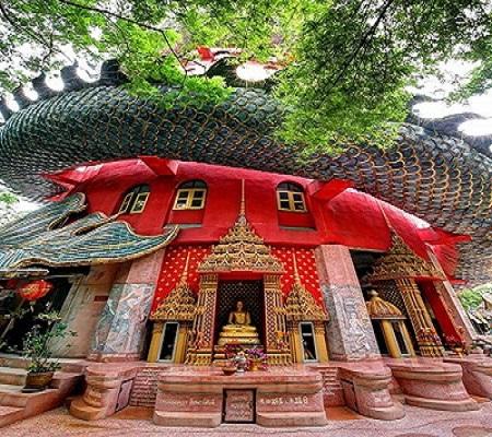 Thái Lan: Ngôi đền có rồng khổng lồ quấn quanh - Ảnh 2