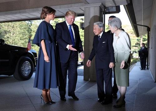 Tổng thống Mỹ Donald Trump diện kiến Nhật Hoàng Akihito - Ảnh 1