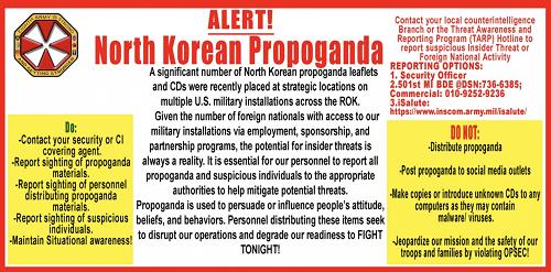"""Quân đội Mỹ hoang mang vì tờ rơi Triều Tiên """"lạc"""" vào căn cứ - Ảnh 1"""
