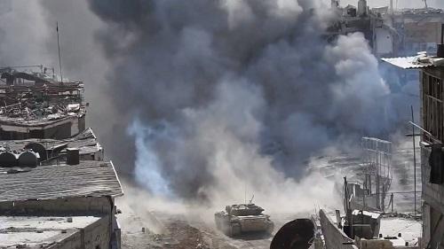 Quân đội Syria tấn công IS dữ dội ở chiến trường Nam Damacsus - Ảnh 1