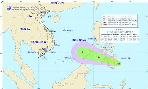 Dự báo thời tiết ngày 17/11: Xuất hiện vùng áp thấp gần biển Đông - Ảnh 1