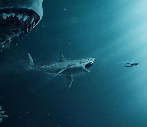 Jason Statham, Lý Băng Băng chạm trán siêu cá mập Megalodon - Ảnh 1